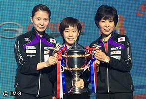 石川佳純がグランドファイナルで優勝