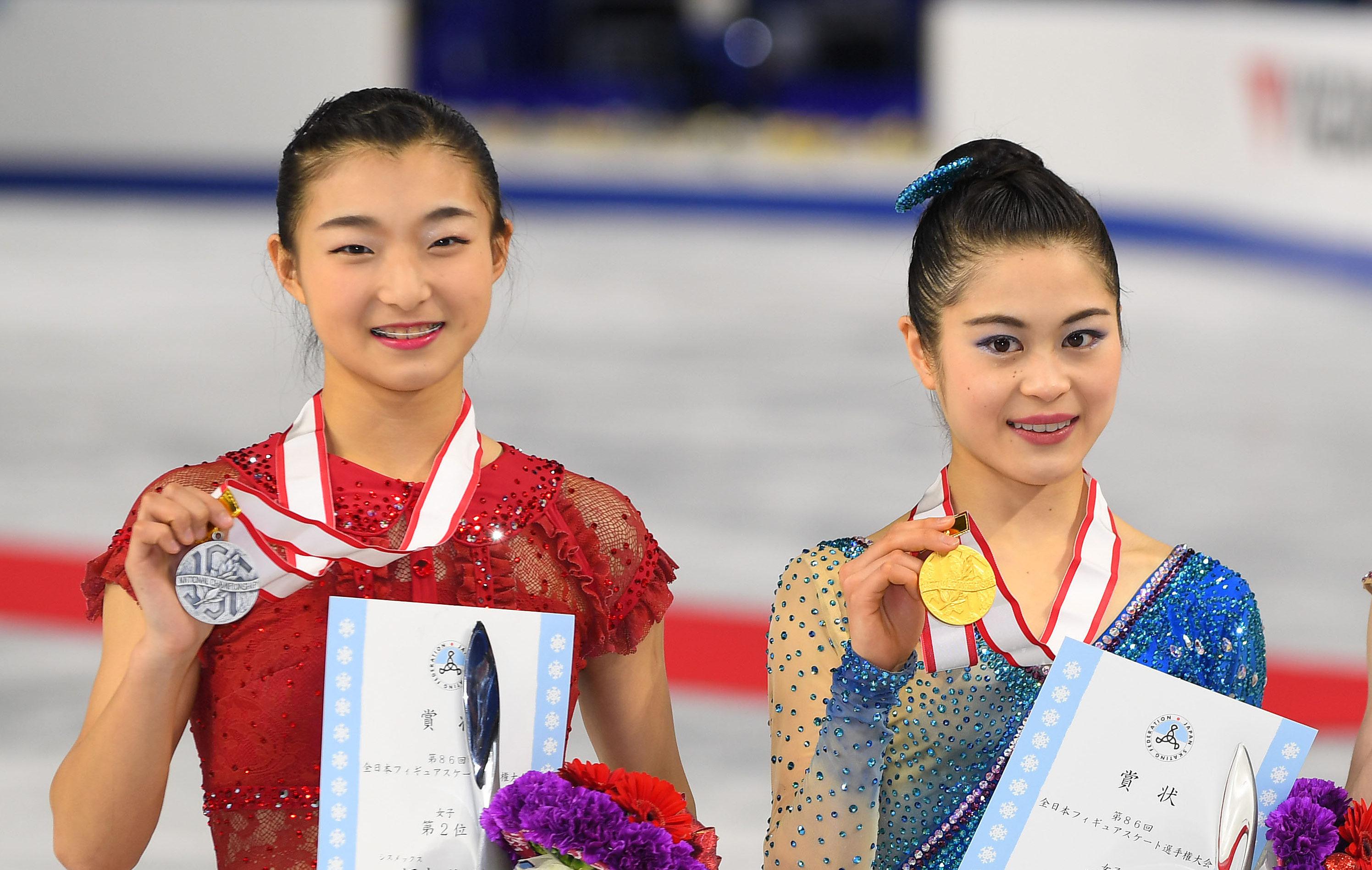 全日本フィギュアで宮原知子が優勝、坂本花織が2位
