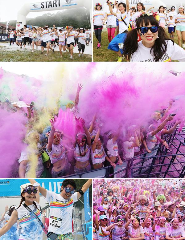 富士山の麓で開催、The Color Run静岡に6000人