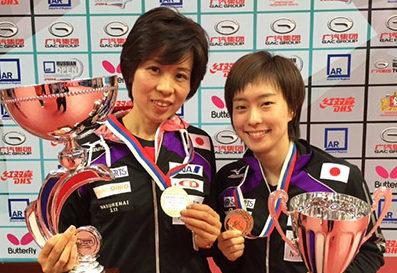 ロシア・オープンで石川佳純が単複2冠!