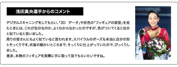 浅田真央初のリアルフィギュア発売!